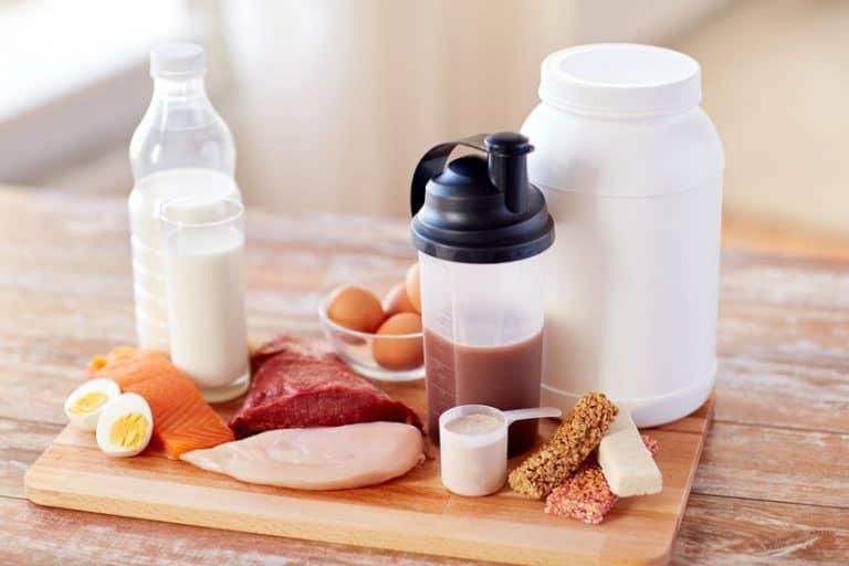 Comida alta en proteína y proteína whey