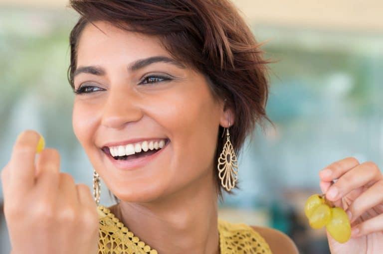 Mujer con sonrisa