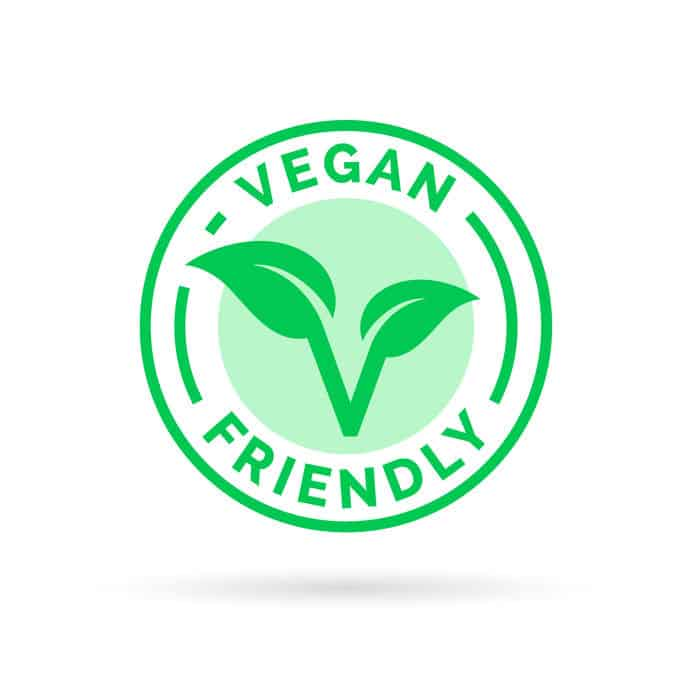 representación gráfica de un logo vegano