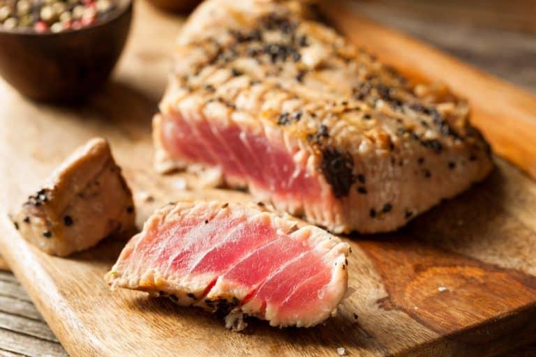 Filete de atún a la plancha
