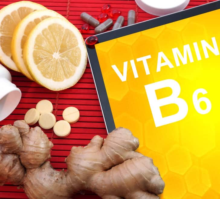 Gingebre y vitamina B6