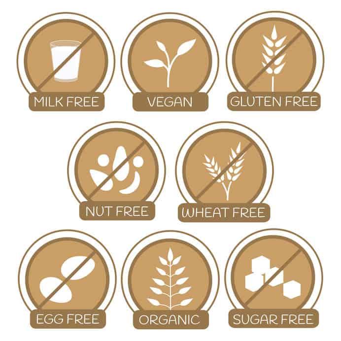 Logos de alergénos