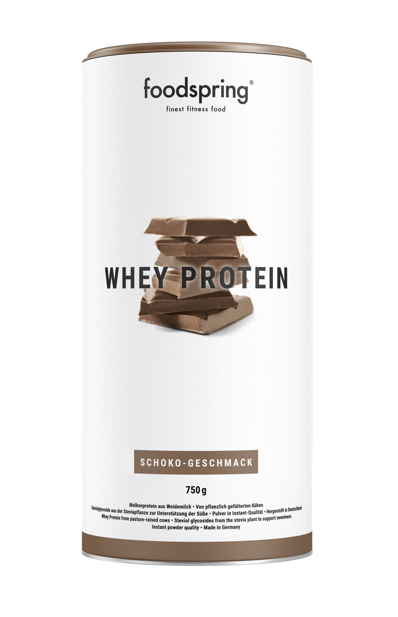 Proteína Whey de Foodspring, de leche de vacas de pasto