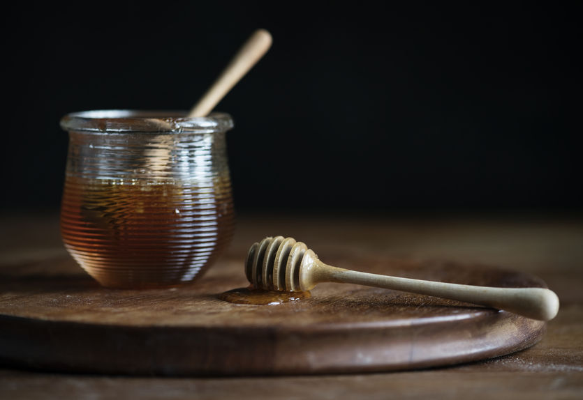 Organic honey food photography recipe idea