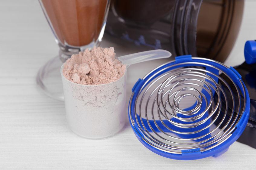 Shaker y proteína en polvo