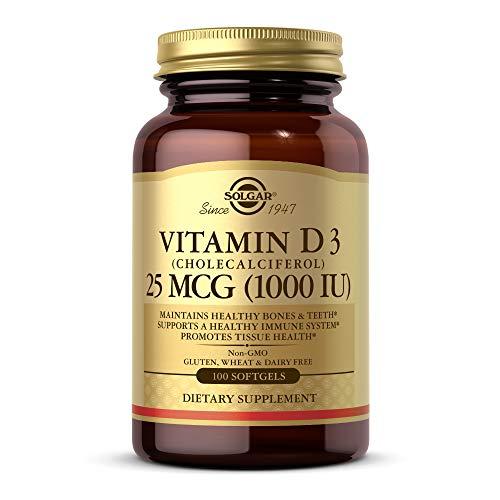 Solgar Vitamina D3 0 Ui (25 Μg) (Aceite de Hígado de Pescado y Colecalciferol), 100 cápsulas blandas