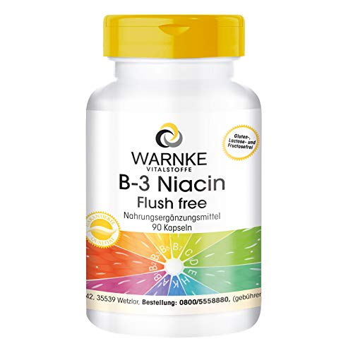 Vitamina B3 500mg – Niacina Flush Free – No ruborizante – 90 cápsulas